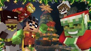 getlinkyoutube.com-Minecraft Batman and Robin Christmas Challenge! w/ The Grinch