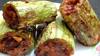 getlinkyoutube.com-Stuffed Padwal Recipe-Stuffed Snake Gourd-Snake gourd Recipe-How to make Snake Gourd Masala