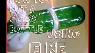 getlinkyoutube.com-How To Cut Glass Bottle Using String And Fire