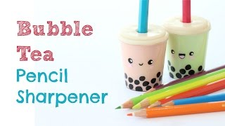 getlinkyoutube.com-DIY Pencil Sharpener | Bubble Tea Pencil Sharpener | Back to School Crafts