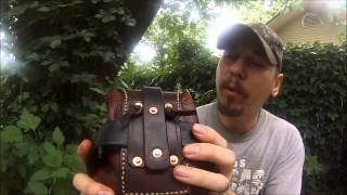 getlinkyoutube.com-Leather Belt/possibles pouch