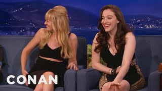 getlinkyoutube.com-Beth Behrs Accidentally Grabbed Kat Dennings' Boob