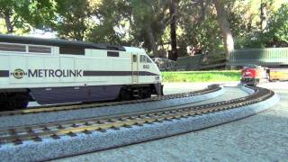 getlinkyoutube.com-HD- My HO Model Train Collection: Metrolink, Southern Pacific, Union Pacific, etc.
