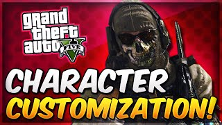 GTA 5 Online Character Customization - How to Look Like Ghost From MW2! (MW2 Ghost Outfit In GTA 5)