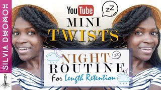 Mini Twists Night Routine For Length Retention