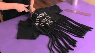 getlinkyoutube.com-How to Cut a Zumba Shirt : Shirt Modifications