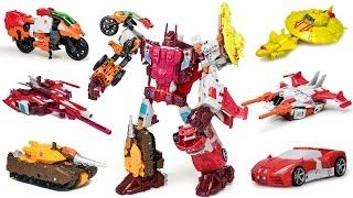 getlinkyoutube.com-Transformers Hasbro Combiner Wars Computron + Upgrade Kit Combine 6 Vehicle Robot Car Toys
