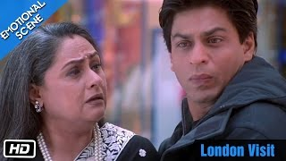 getlinkyoutube.com-London Visit - Emotional Scene - Kabhi Khushi Kabhie Gham - Shahrukh Khan, Amitabh Bachchan