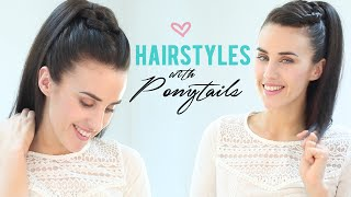 getlinkyoutube.com-Easy hairstyles with ponytails
