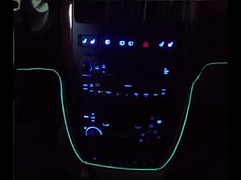Как сделать Подсветку панели приборов Chrysler Voyager RG Обновлённая Версия/How to make a Backlight