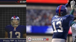 getlinkyoutube.com-ESPN NFL 2K5 Odell Beckham jr With Madden 16 ratings