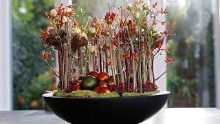 getlinkyoutube.com-Floral Christmas Decoration, Full how to make tutorial