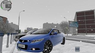 getlinkyoutube.com-City Car Driving 1.5.3 Honda Civic Si 2013 SNOW [G27]