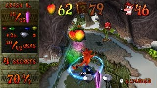 getlinkyoutube.com-Crash Bandicoot 2 - 100% speedrun in 1:20:51 (single-segment) by MrBean35000vr (commentated)