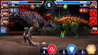 getlinkyoutube.com-3 level 40 Indominus Rex Jurassic World the game!