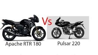 Apache 180 vs Pulsar 220- Drag Race