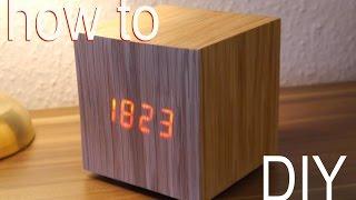 getlinkyoutube.com-DIY Designer Würfel Uhr Anleitung - WOOD CLOCK