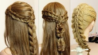getlinkyoutube.com-Easy braid hairstyles. Hair tutorials.