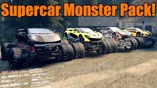 getlinkyoutube.com-Spin Tires   Supercar Monster Truck Pack!!
