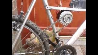 getlinkyoutube.com-DIY cheap electric bike using cordless - drill battery
