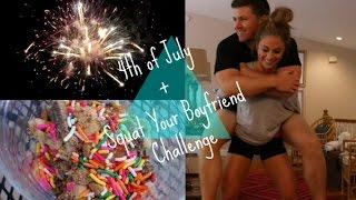 getlinkyoutube.com-SQUAT YOUR BOYFRIEND CHALLENGE, 4TH OF JULY + WORKOUT | VLOG 7.4.15