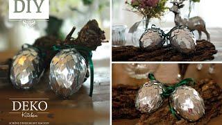 getlinkyoutube.com-Weihnachtsdeko basteln - silberne Deko-Zapfen Tutorial | Deko Kitchen
