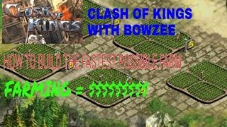 getlinkyoutube.com-CLASH OF KINGS HOW TO BUILD THE FASTEST FARM