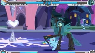 getlinkyoutube.com-Fighting Is Magic Rainbow Dash vs Queen Chrysalis