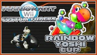 getlinkyoutube.com-Mario Kart Wii Custom Tracks - Rainbow Yoshi Cup