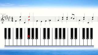 getlinkyoutube.com-奏でてみようよ162 ねこふんじゃった 楽譜 ピアノ ピアニカ用 マスター編