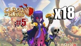 getlinkyoutube.com-Clash of Clans - Clan Wars Epi #5 - x18 Witch Attack
