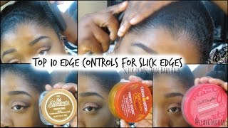 10 Edge Controls for Natural + Relaxed Hair | Sleek edges & Baby Hairs♡