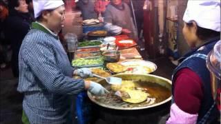 getlinkyoutube.com-Xian China Street Food, Muslim Street