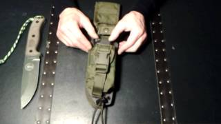 getlinkyoutube.com-Esee 5 with full sheath system review