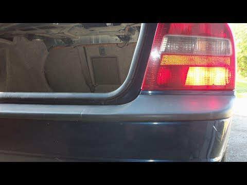 Крепление заднего бампера. Volvo S80. Rear bumper.