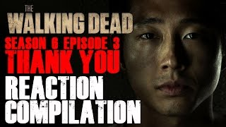 getlinkyoutube.com-The Walking Dead | Glenn's False Death Reactions Compilation