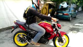 getlinkyoutube.com-Yamaha FZ16 150cc with Custom Iron Man Paint Job and Musashi Exhaust