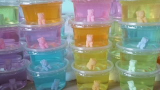 ทำสไลม์ มาแจก โดยตรง สไลม์สอดไส้หมี สีพาลเทล【 DIY Slime  】