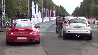 getlinkyoutube.com-700 HP Nissan Juke R vs. 900 HP Porsche 911 Turbo. Unlim 500+