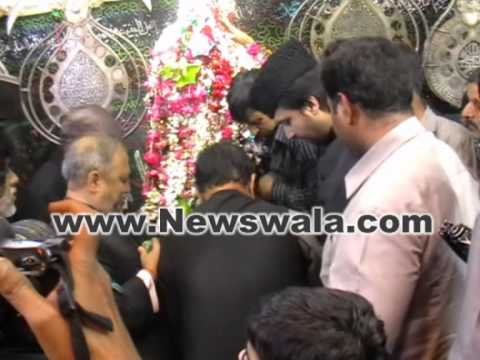 Akbaruddin Owaisi MLA MIM visited Bibi-Ka-Alawa at Dabirpura for Moharram 2012