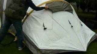 getlinkyoutube.com-Туристическая палатка с надувным каркасом Quechua MSH - My Second Home. Распаковка и установка.