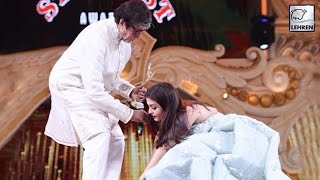 getlinkyoutube.com-Aishwarya Rai Touches Amitabh Bachchan's Feet Before Receiving Award | LehrenTV