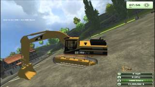 getlinkyoutube.com-Farming simulator 2013 mod spotlight Cat execavator