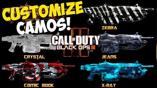 "Black Ops 3: NEW ""CUSTOM CAMO"" OPTION! BO3 Multiplayer Features! ""Black Ops 3 Multiplayer Info"""