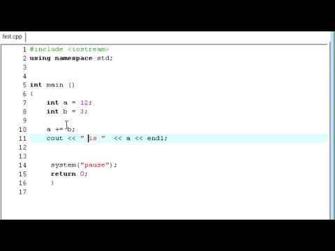 C++ Tutorial - 24 - Compound Assignment Operators