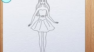 getlinkyoutube.com-How to draw Barbie