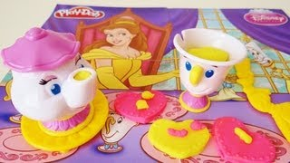getlinkyoutube.com-Play-Doh Belle's Magical Tea Party Unboxing