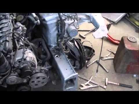 AUDI A4 Front part repair of the car Ремонт переда машины