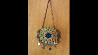 getlinkyoutube.com-CROCHET How to #Crochet small Handbag Purse #TUTORIAL #111
