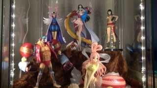 getlinkyoutube.com-One Piece フィギュア in IKEAガラスケース&照明取付